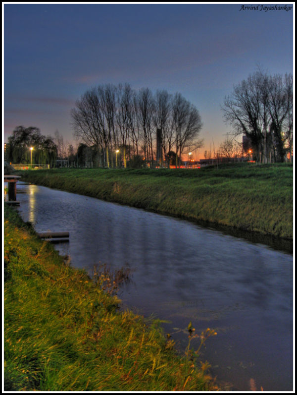 A canal behind my house in Delft.