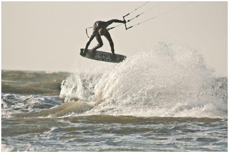Kite Surfing on Slufter Beach