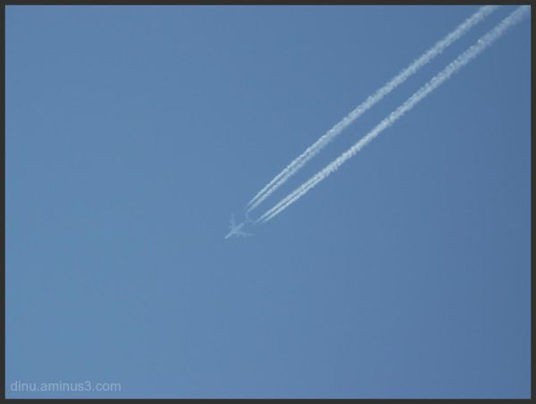 Leaving a long trail in the sky