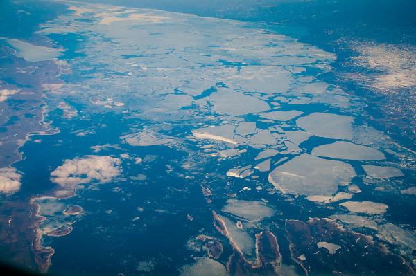 Shots from plane near Hudson Bay