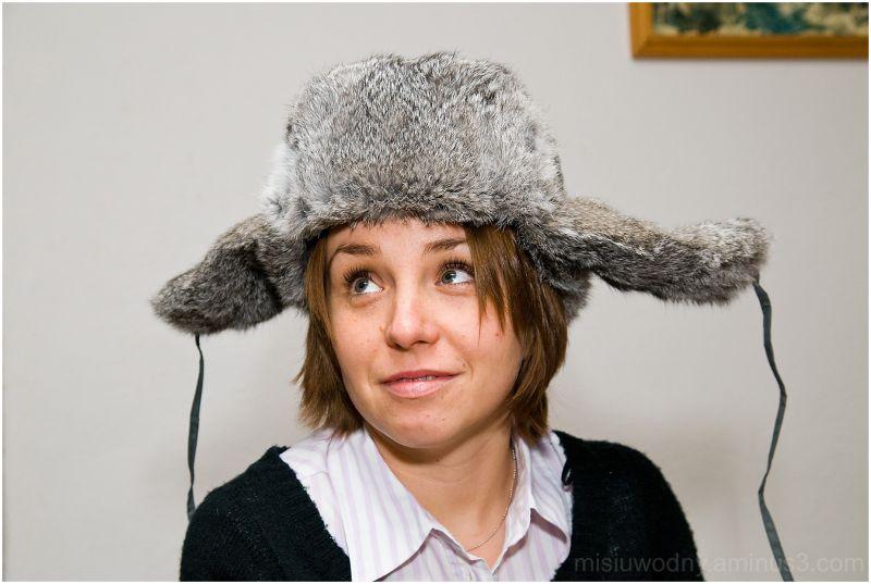 women in a winter hat