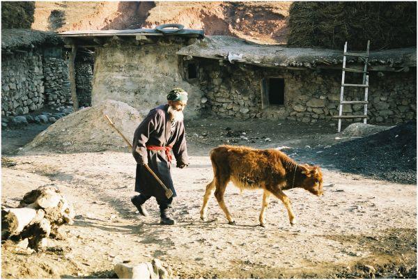 village, man, age
