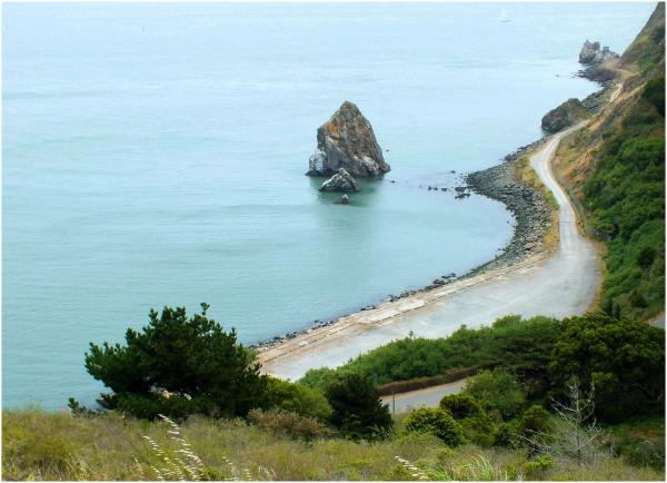 By Pacific Ocean...