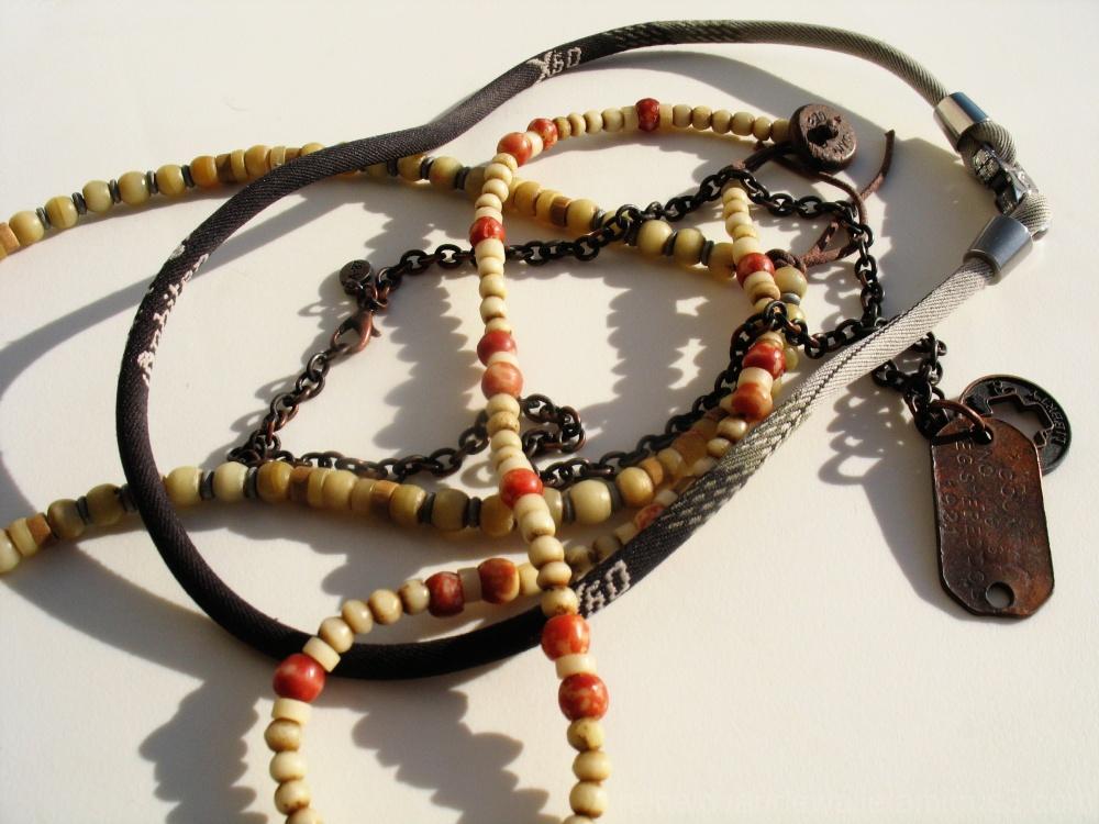 A set of necklaces.
