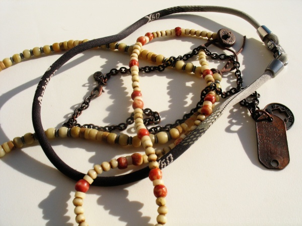 A set of necklaces.