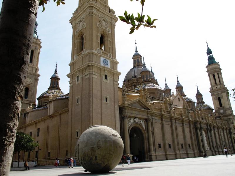 Mapamundi at Plaza del Pilar, Zaragoza, Spain