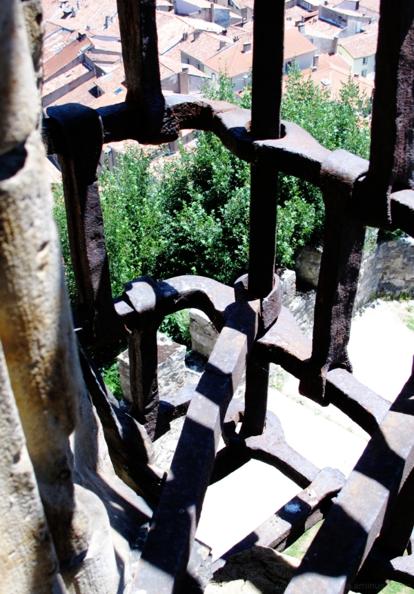 Bars of a window in a castle