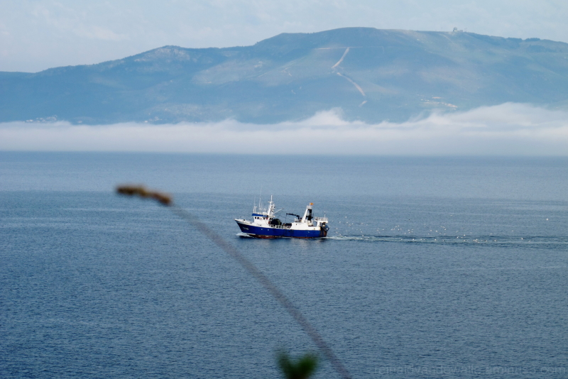 A fisherboat returning home
