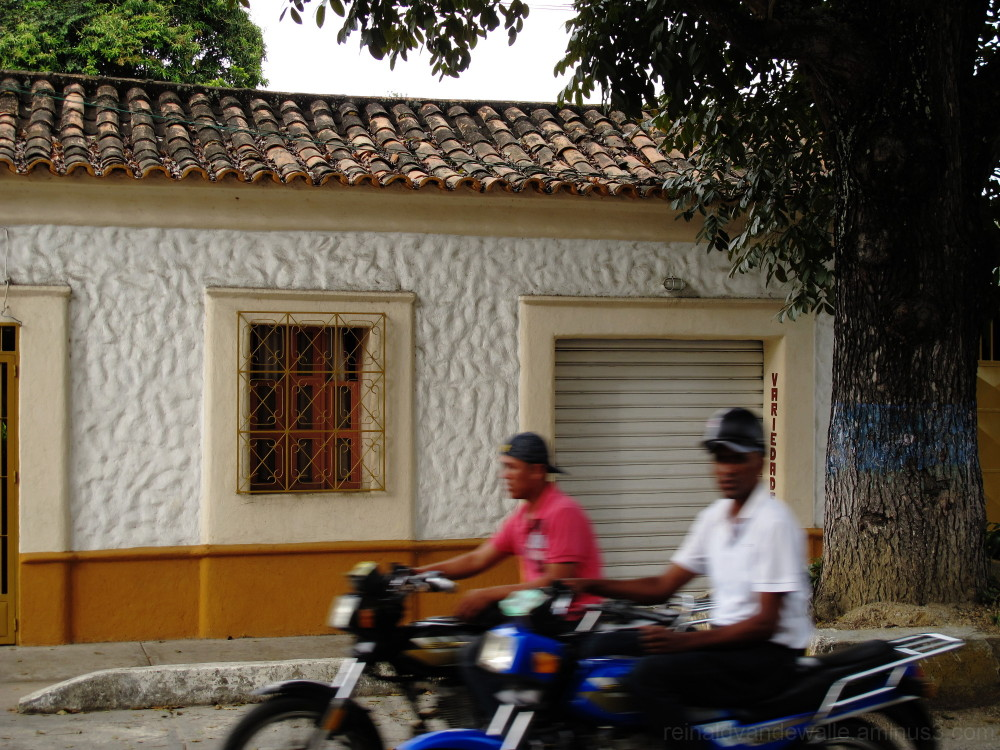 Motorized in the village.