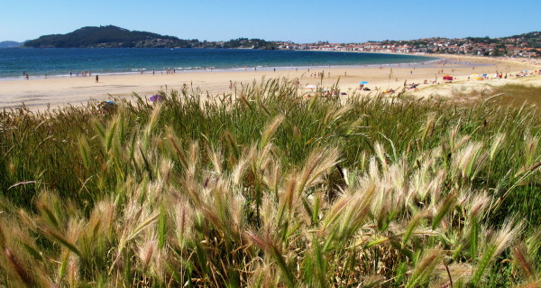A beach at Galicia, near Baiona city.