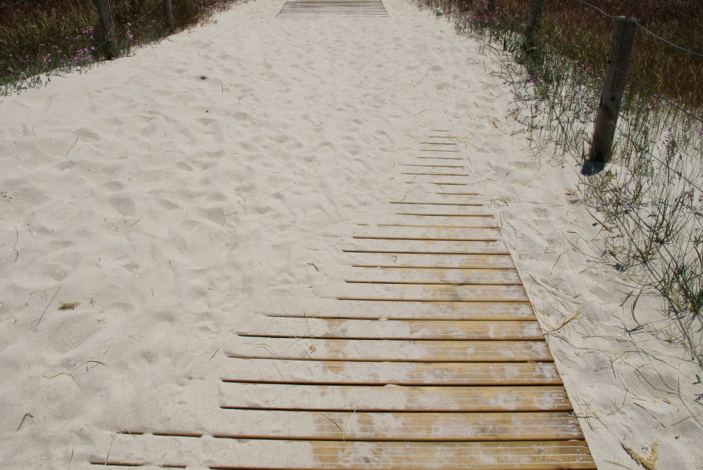 Boardwalk at the beach.