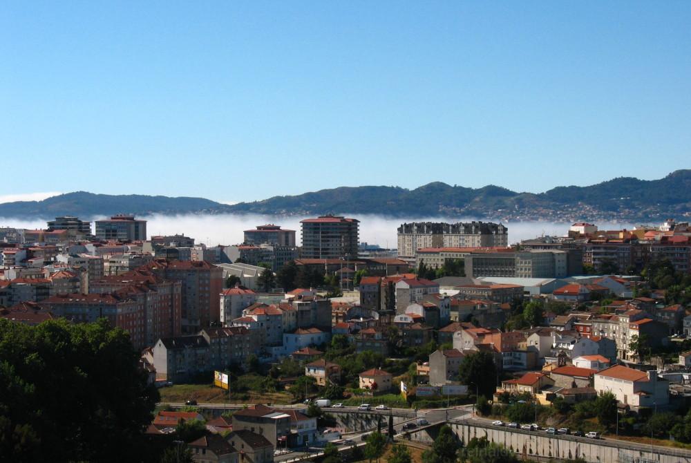 City with mist