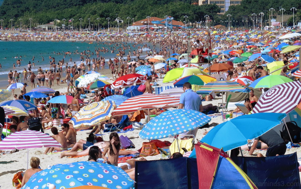 Beach with a lot of people