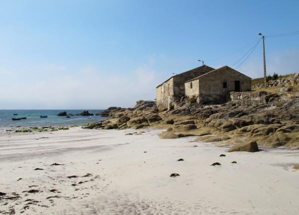 Fishermen houses at the beach