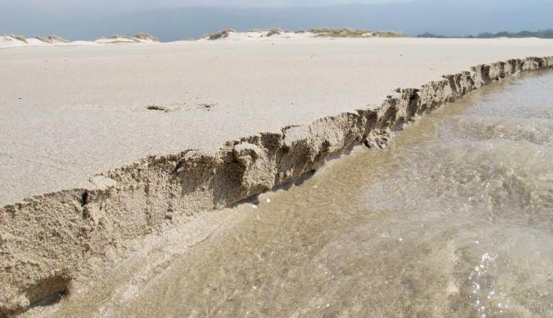 Erosion at the sea.