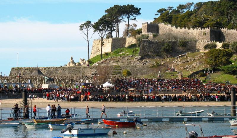 Arribada feast at Bayona, Galicia