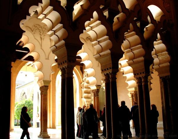 Islamic arches in Zaragoza, Spain