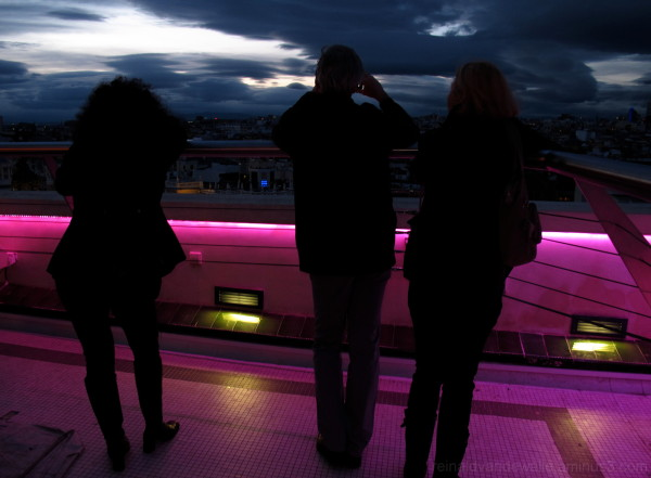In an elevated terrace of Madrid