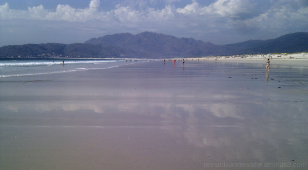 A beach.