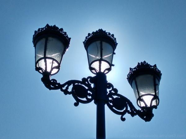 Three street lights