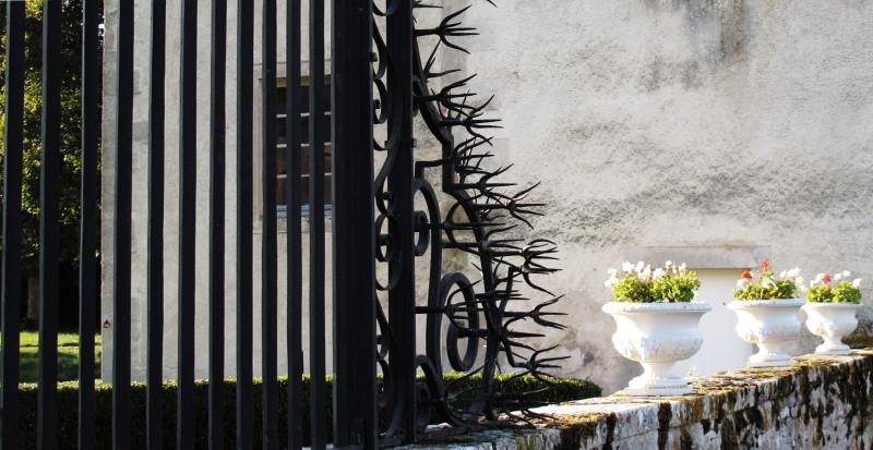 Iron fence trespassing