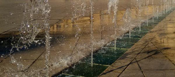 A water fountain