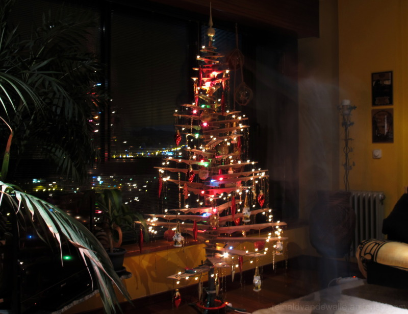 Christmas tree with ghost