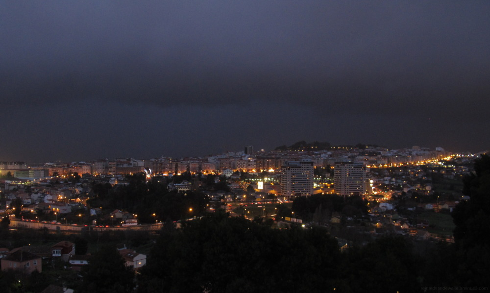 Stormy evening in Vigo