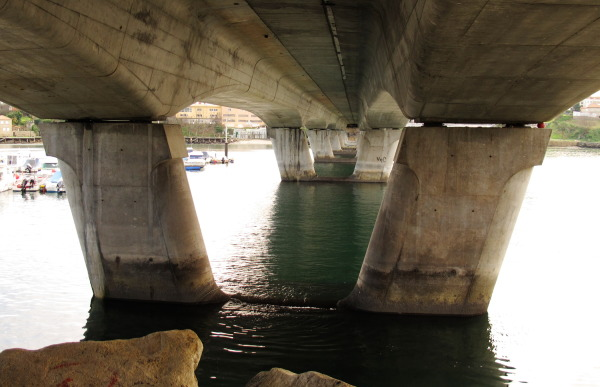 Bridge viewed from below.