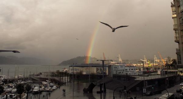 rainbow in the nightfall