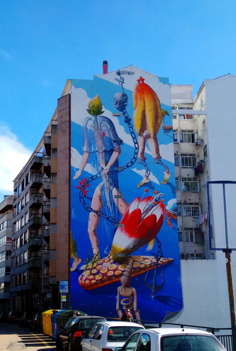 Graffiti marine motif