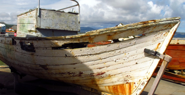 A old fishing boat
