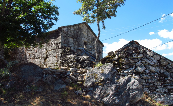 Stone houses in the galician rural