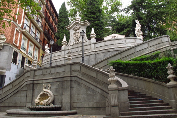 unevenness ornamental staircase outside town