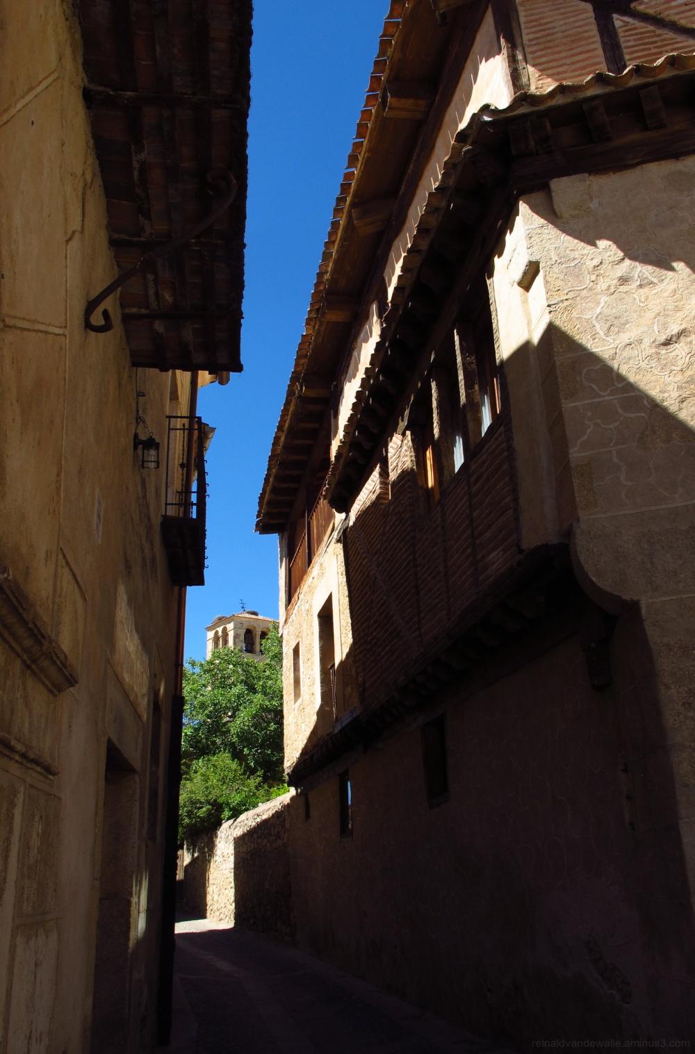Narrow shaded street