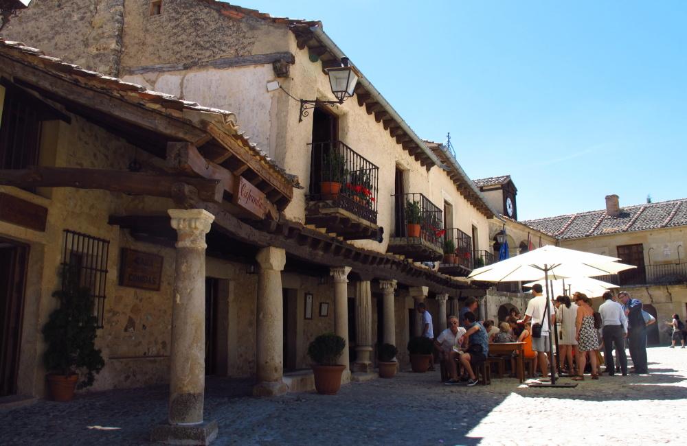 Main square of Pedraza village, Spain