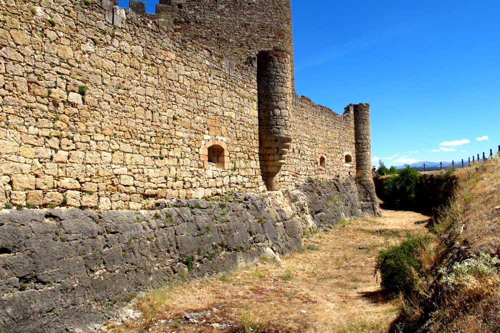 Walls and moat from a castle