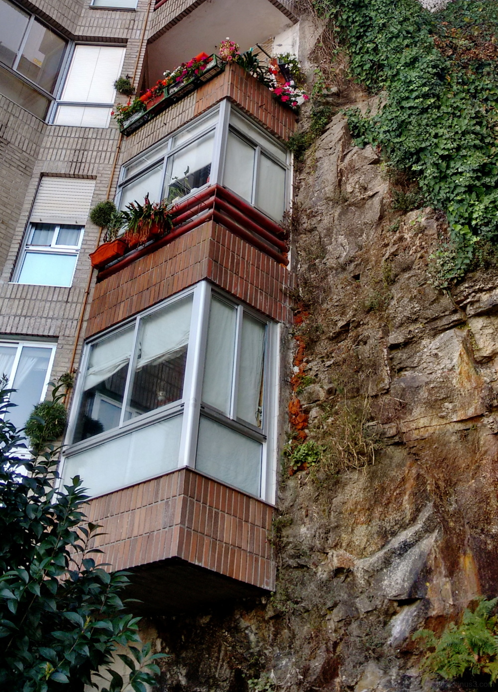 Balconies and rock