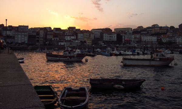 Galician fishing port.
