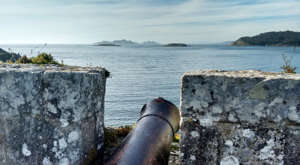 Fortress of Baiona and Cíes Islands.