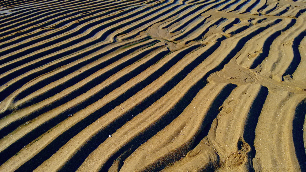 Sand waves at the beach