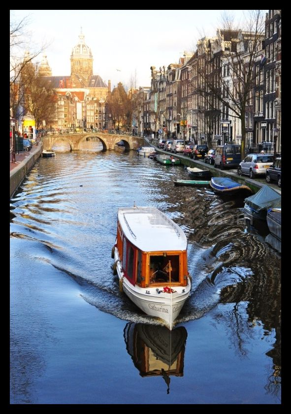 Canal cruise in Amsterdam, Netherlands