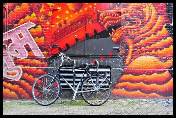 Bicycle with Graffiti