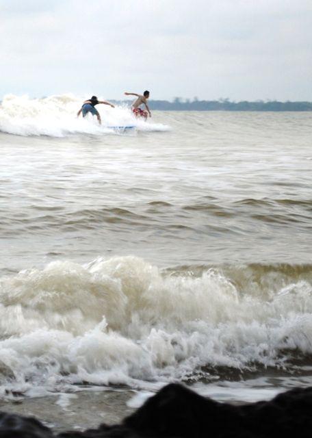 Surfing in Cherating