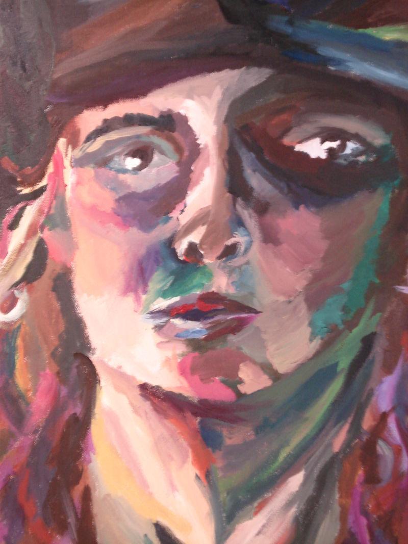 crazy color self-portrait