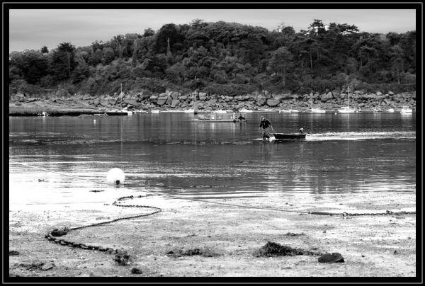 Retour de pêche à marée basse