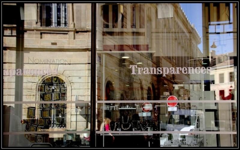 """""""Transparences"""" et reflets"""
