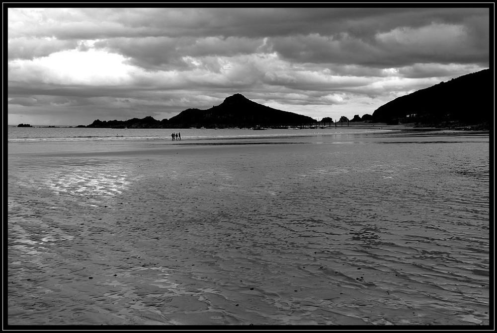 mer sable reflets bretagne
