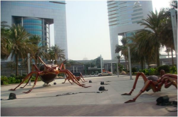 Ants Exhibition in front of Emirates Towers