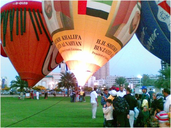 Hot air balloons with the sheikhs :)